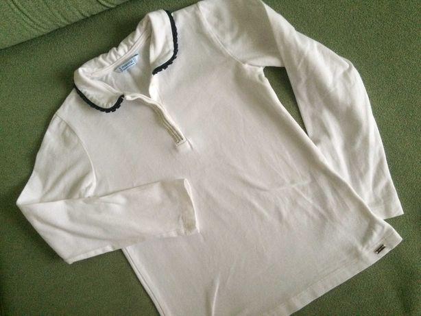 Белая Блуза школьная  р.128  Нарядная  7-8 лет блузка Mayoral Испания