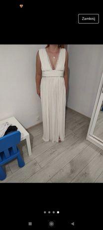 Długa suknia ślub cywilny