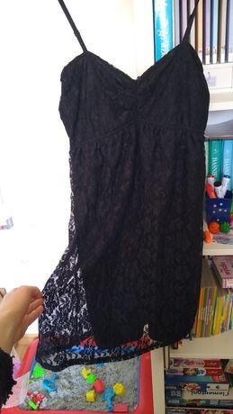 Sukienka czarna mini koronkowa rozm.M