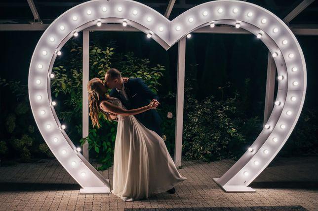 Miłość Love pisane mega Serce wesele ciężki dym fontanna iskier