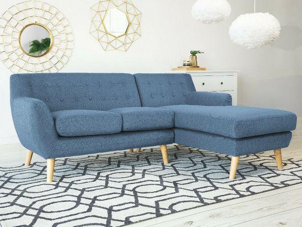 Narożnik Sofa niebieska kanapa zielona morska błękitny NOWOCZESNY