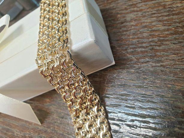 Bransoletka złota pr.585 waga 65g wzór potrójne galibardi