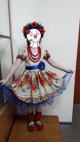 Нарядное платье в украинском стиле, вышиванка