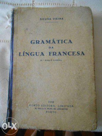 Livro de Gramática Francesa Antigo