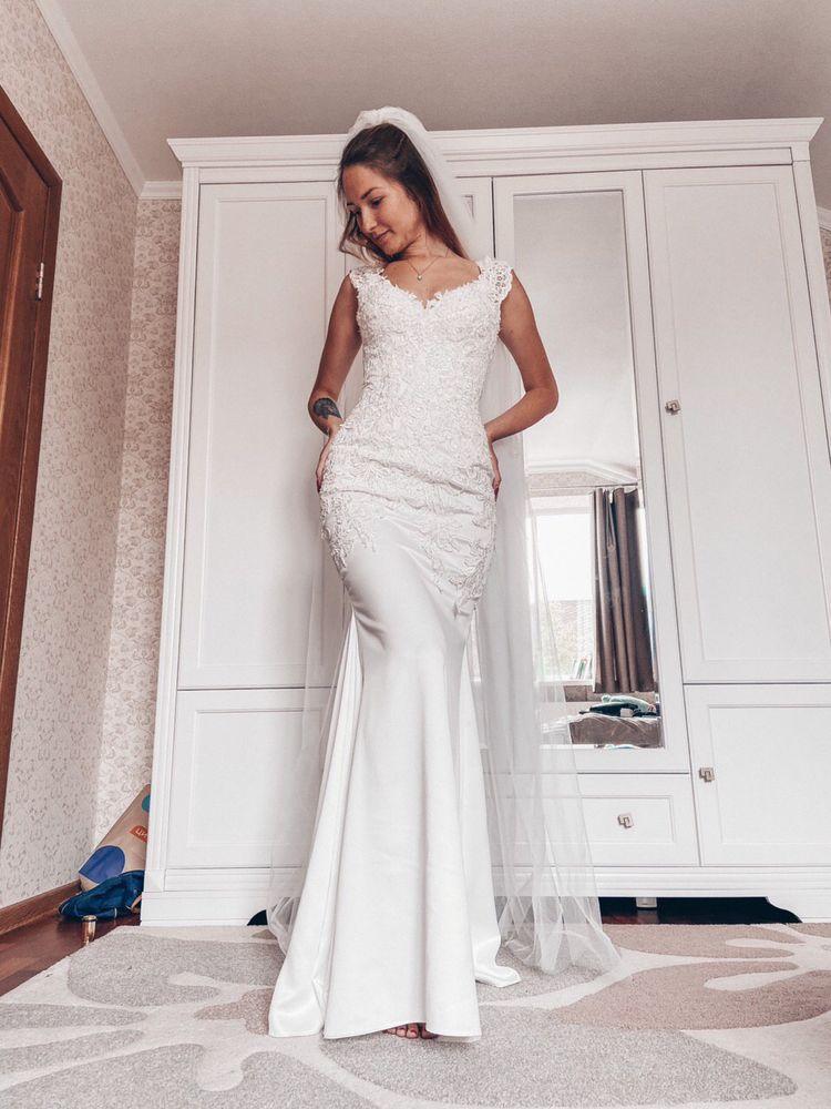 Свадебное платье рыбка. Новое