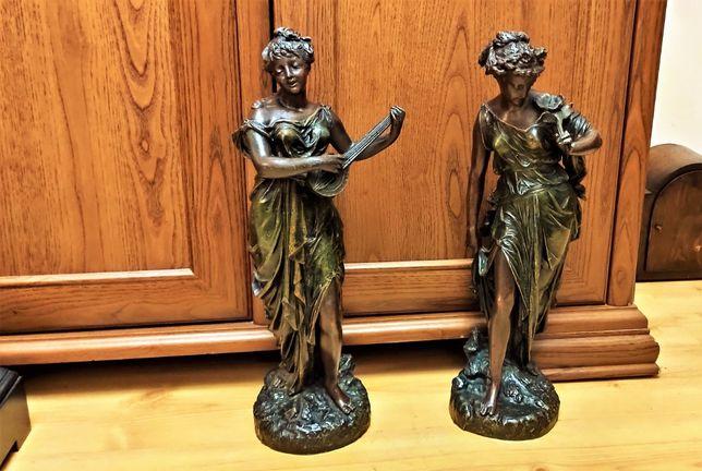 Dwie ,stare duże rzeźby figuralne, Francja XIXw