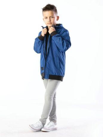 Przejściowa kurtka chłopięca niebieska 140  Nowa