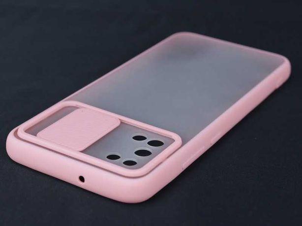 Capa Samsung Galaxy A02S Rígida Bumper Proteção Câmara Rosa *P.GRÁTIS