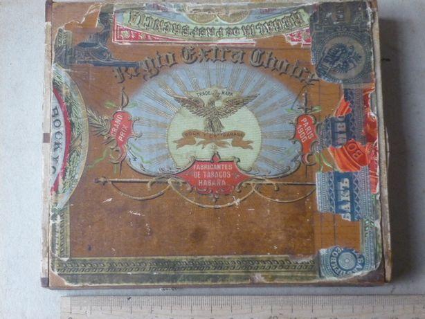 Коробка от кубинских сигар для России. 1910г.