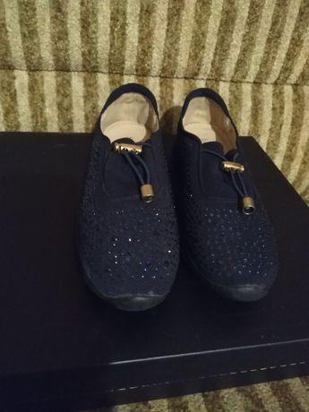 Туфли женские синие