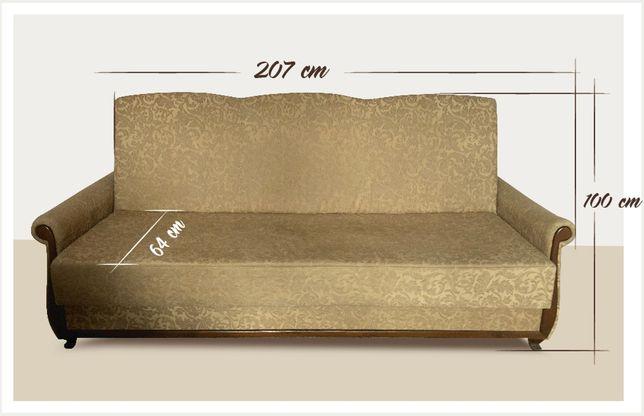kanapa duża, dwuosobowa, rozkładana