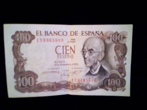 Nota de 100 pesetas
