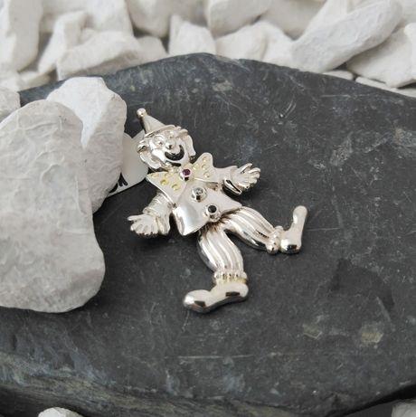 Srebrny wisiorek Klaun / srebro 925