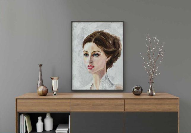 Картина маслом портрет женщины