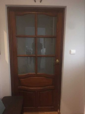 Drzwi - skrzydło drzwiowe 90 cm z ościeżnicą (futryną) drewniane