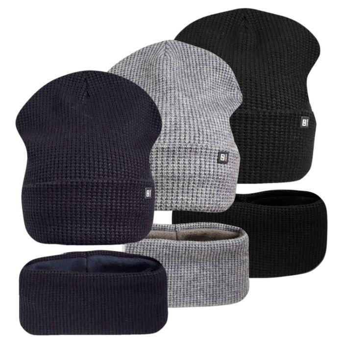 Комплект шапка с хомутом на флисе Лайк ог.54-58см Хмельницкий - изображение 1