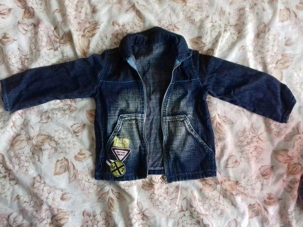 Джинсовая куртка рост 98
