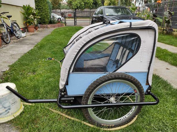 Przyczepka rowerowa dwuosobowa dla dzieci