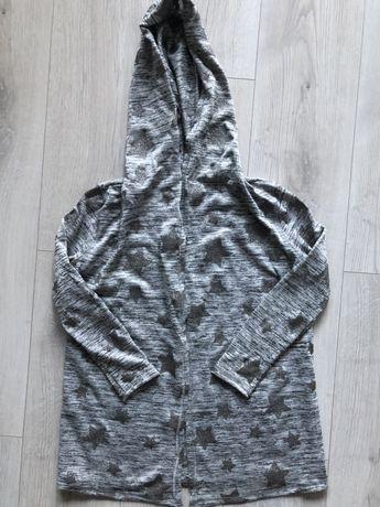 szary sweterek dziewczęcy 134-140