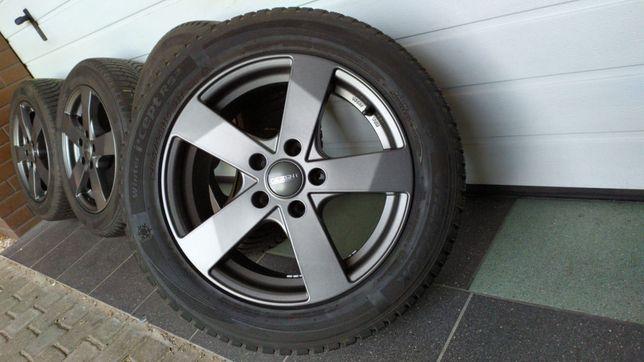 Koła aluminiowe DEZENT 16' 5x112 opony zimowe 205/55/16 AUDI SEAT VW