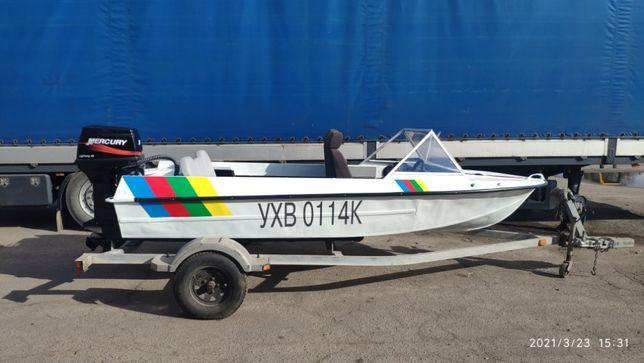Лодка Крым с мотором Mercury 40