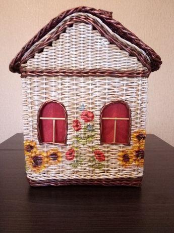 Короб плетений для зберігання дитячих іграшок