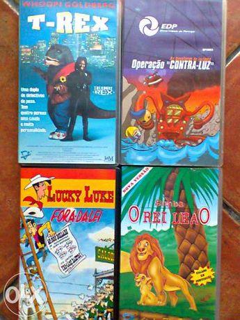 2 Cassetes de vídeo originais: simba, o rei leão e luzinha