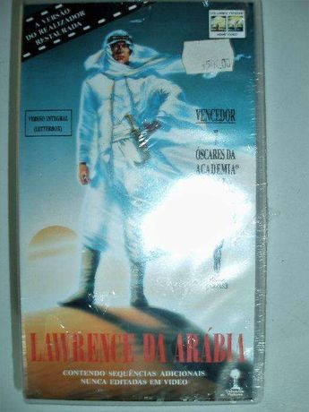 Video Lawrence da Arábia VHS 2 cassetes
