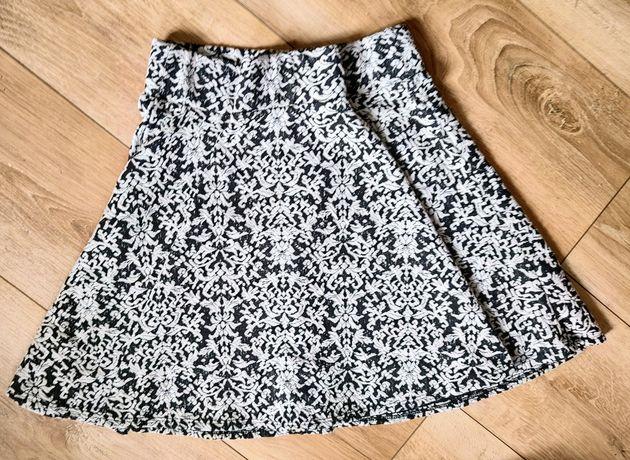 Rozkloszowana spódnica Cotton Candy S M nude aztecki wzór