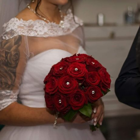 Suknia ślubna, rozmiar 34