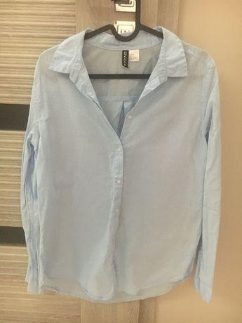 Niebieska bawelniana koszula H&M