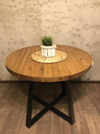 Stół dębowy do kuchni jadalni ,salonu ,nogi stalowe DOSTĘPNY OD RĘKI ,