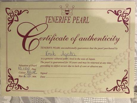 Naturalna perla Blue z certyfikatem