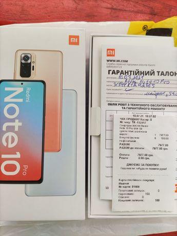 Новый Xiaomi Redmi Note 10 pro 6/64 Gb Blue EU официал(лучше Realme 8)