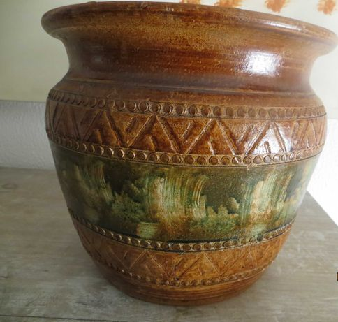 Vaso Plantas e árvores pequenas, Barro, c/ motivos arcaicos 10 litros