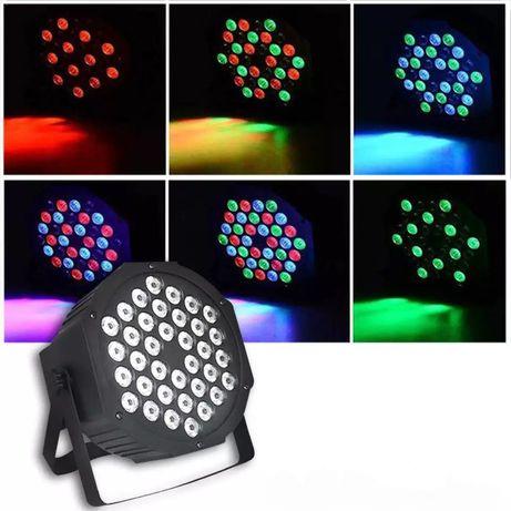 NOWY!! KOLOROFON DISCO MINI PAR 36 LED X 3W sylwester 2020/2021