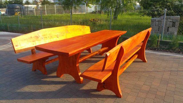Stoły drewniane z litego drewna dł 4 m masywne