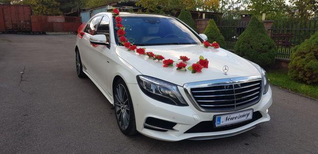 Auto do ślubu, biały mercedes AMG S-klasa W222 + rejs jachtem gratis