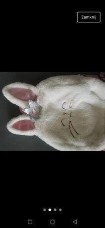 Plecak zajączek biały