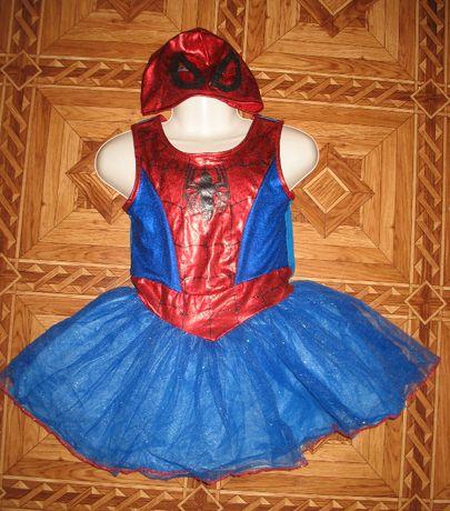 карнавальное платье и маска подружки человека паука спайдермена