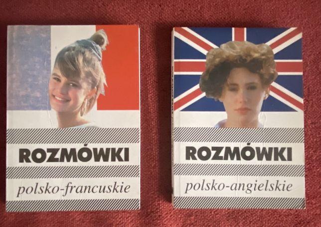 Rozmówki polsko-angielskie i polsko-francuskie, nauka, języki, podróże