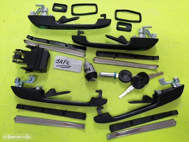 Kit completo 4 puxadores ignição e mala Vw Golf II NOVO