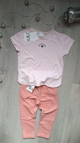 Базовая стильная футболка с сердечком от Zara,4-5л.