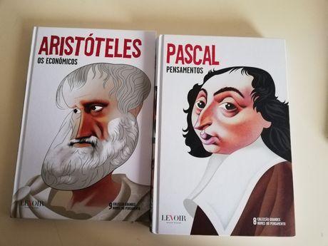 Livros Aristóteles e Pascal