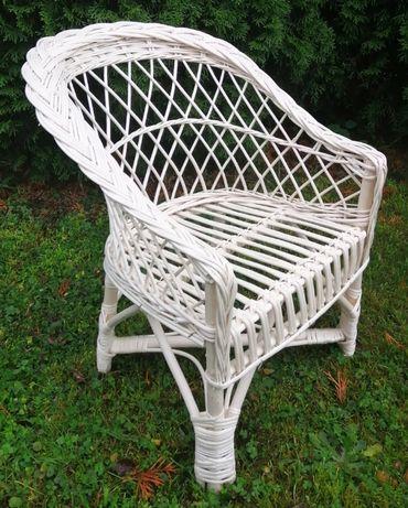 Krzesełko/Fotelik królewski, wiklinowy, 51 cm ażurowe siedzisko - ECRU