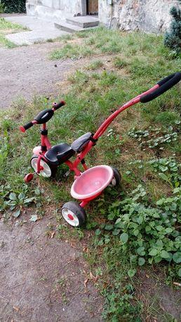 Czerwono czarny rowerek pilnie tanio