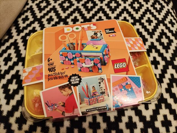 Nowy zestaw klocków Lego Dots Organizer na biurko 41907, wysyłka