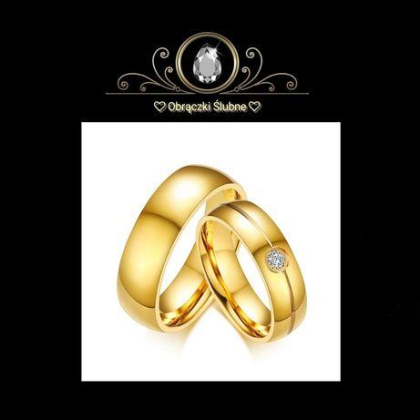 Zdumiewająca PARA Złotych Obrączek Ślubnych