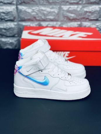 Хамелеон Nike Air Force Af1 Chameleon Кроссовки кожаные Найк Новинка!