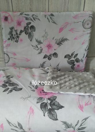 Posciel do łóżeczka kocyk ,poduszka,motylek minky